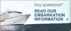 Any questions? Read our embarkation information